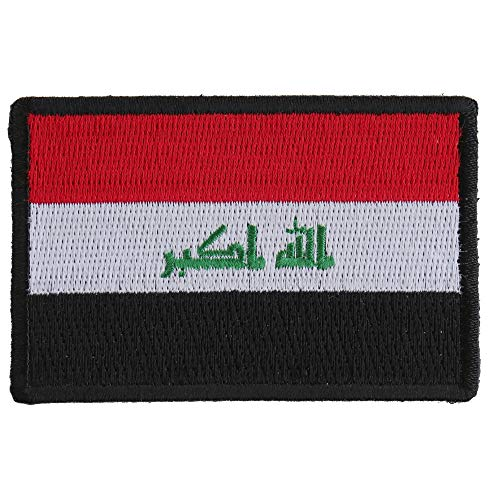 Iraq Flag Patch - Iron on Patch - 3x2 inch