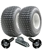 ATV trailer kit - Quad trailer - Wanda wielen + Steel Press hub/stub + Alko koppeling 200kg 18x9.50-8