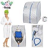 2l Portable Steam Sauna Tent SPA Detox Weight Loss w/ Chair Silver