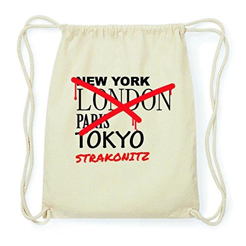 JOllify STRAKONITZ Hipster Turnbeutel Tasche Rucksack aus Baumwolle - Farbe: natur Design: Grafitti m8ezzMSki