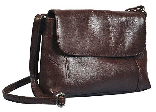 """Vilenca """"40599 Marrone"""" Signore borsa a tracolla, borsa di cuoio per le donne, Dimensioni-L25cmxH15cmxB5cm"""