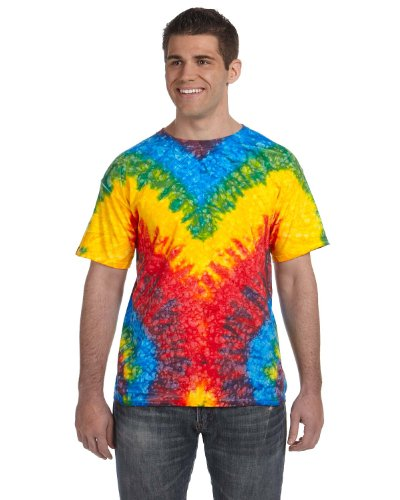 Tie Dyes Men's Tie Dyed Performance T-Shirt H1000 Spider-woodstock-xl ()