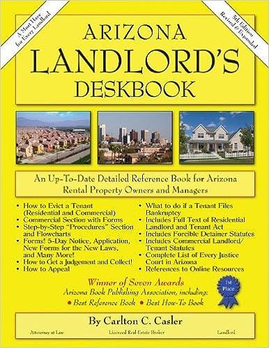 Arizona Landlord's Deskbook by Carlton C. Casler (1995-09-02)