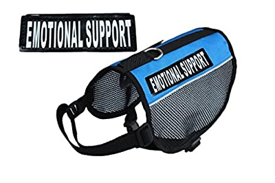 EMOTIONAL SUPPORT Service Dog mesh vest Harness Cool Comfort. Purchase comes with 2 reflective EMOTIONAL SUPPORT velcro pathces. PLEASE MEASURE your dog before ordering