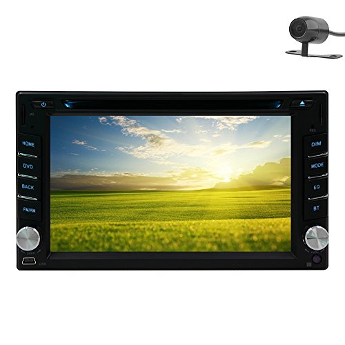 Rear Camera Windows Ce 8.0 Car Stereo 6.2 Inch Car GPS Navigation iPod Analog Tv Am/fm Radio Hd Touchscreen Car DVD Player Double 2 Din Audio in Dash Head Unit Bluetooth+Free Map Card