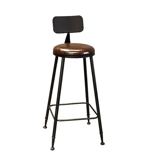 HAOYUXIANG Sillas Altas de café Retro, sillas de Bar de ...