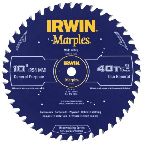 Irwin Tools  1807367 Marples Laser Cut 10-Inch 40-Tooth Alternate Tooth Bevel Circular Saw Blade by IRWIN