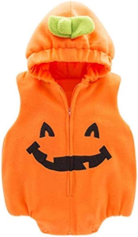 Disfraz de calabaza con capucha para niños y niñas de 6 a 24 m ...