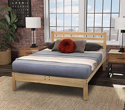 Long Extra Twin Foundation - KD Frames 6224-LX-XT Lexington Platform Bed, XL-Twin, Unfinished