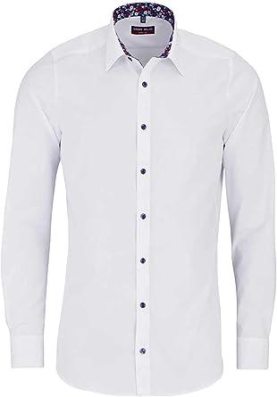 Marvelis Body Fit Camisa extra larga manga New Kent cuello blanco Blanco 46: Amazon.es: Ropa y accesorios