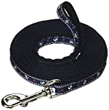 Mirage Pet Products Anchors Nylon Ribbon Leash for Pets, 3/8-Inch by 6-Feet, Blue