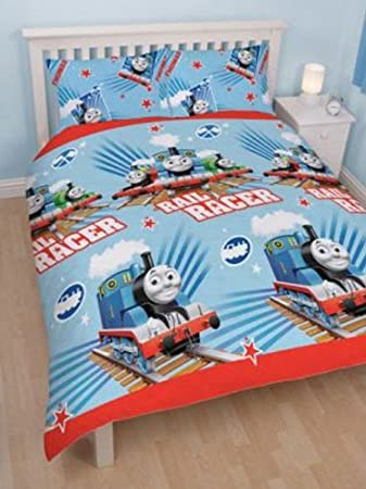 Thomas   Friends  Race  Double Duvet Cover   2 Pillowcases Set. Thomas   Friends  Race  Double Duvet Cover   2 Pillowcases Set