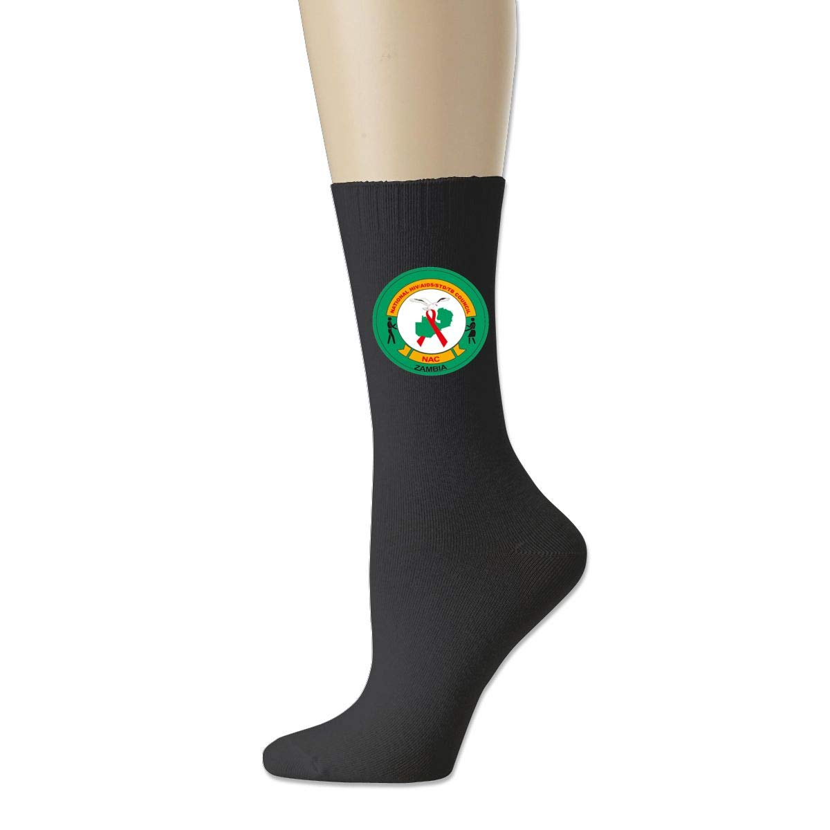 Rigg-socks Flag Of Zambia Mens Comfortable Sport Socks Black