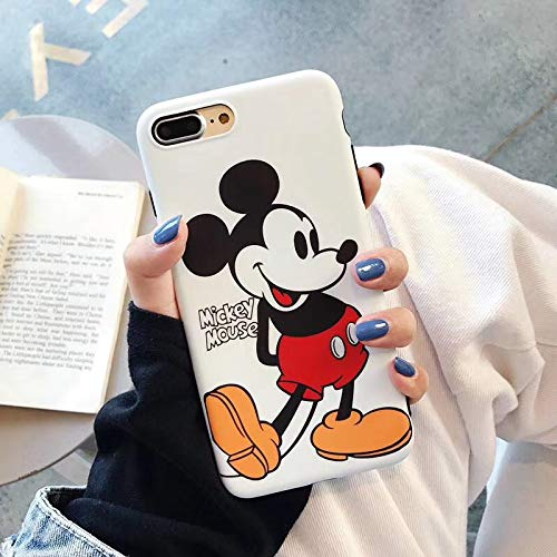 Twinlight Cartoon Mickey Minnie Mouse Case for iPhone 8 X 7 Plus XR XS MAX Lovely Back Cover Case for iPhone 7 Cute Soft TPU Shell (Style2, for iPhone 7) (Iphone 4s Mickey Mouse Case)