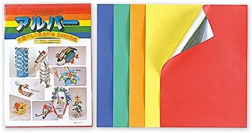 工作紙 アルパー B4判 片面銀ホイル 片面カラー画用紙 5色組
