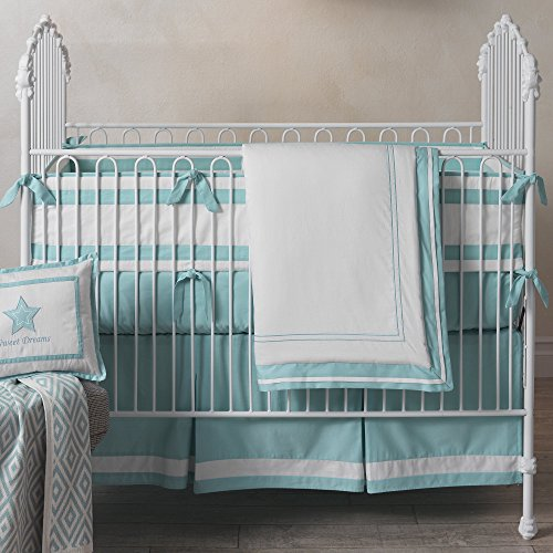 Lambs & Ivy Classic Aqua 3-Piece Crib Bedding Set