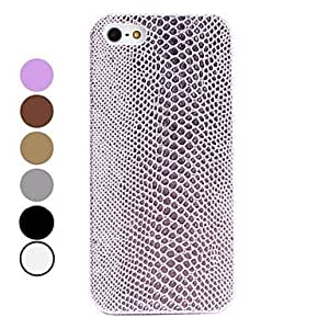 Snakeskin Style Hard Case for iPhone 5/5S (Assorted Colors) --- COLOR:Brown