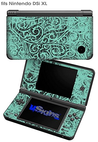 Folder Doodles Seafoam Green - Decal Style Skin fits Nintendo DSi XL (DSi SOLD SEPARATELY)