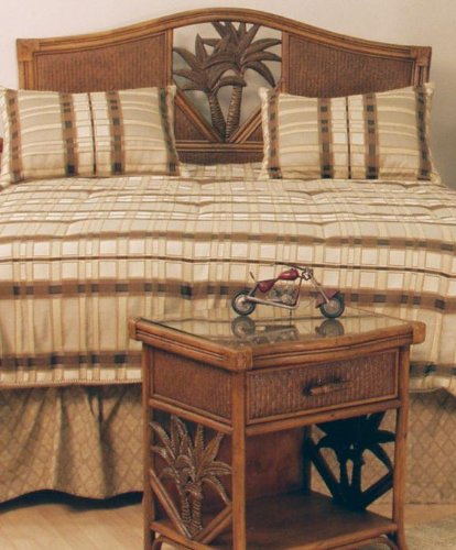 Cancun Palm Twin Headboard in Antique Finish (Twin)