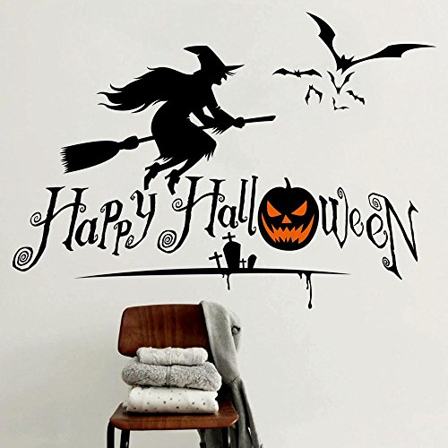 JMHWALL Halloween pumpkin skull 3D wall sticker for kids room living room bedroom Halloween party wall decal home decor PVC wall decal,C -