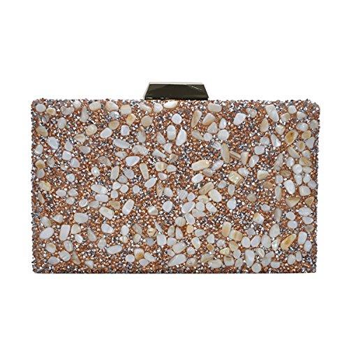 - Madison West Kenna Clutch Bag: Black - Gold CLW-0788