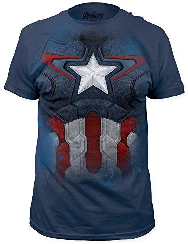 Captain America - Suit T-Shirt Size XXL (Peggy Carter Captain America 2)
