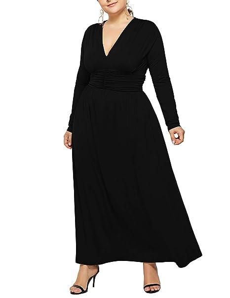 Amazon.com: Salimdy Maxi vestido de fiesta de noche ...