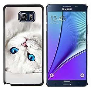 LECELL--Funda protectora / Cubierta / Piel For Samsung Galaxy Note 5 5th N9200 -- Gatito lindo bebé ojos de gato negro para mascotas --