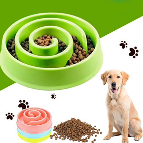 Cheap DDPET Dog bowls Slow Feeder Anti-Gulping Dog Bowl Large Dog Feeder Slow Dog Feeders Large Pet Bowls for Dogs Cats Feeder Slw-Bowl Dog Bowl Stop Bloat Dog Feeder for Large/Small Dogs Kitten