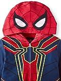 Marvel Spider-Man Boys Hooded Sleeper Pajamas