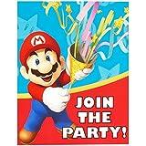 Super Mario Party Supplies - Invitations (8)