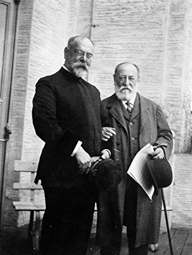 Sousa & Saint-Saens C1915 Namerican Composer John Philip Sousa (Left) With French Composer And Pianist Camille Saint-Saens Photograph C1915 Poster Print by (18 x 24)