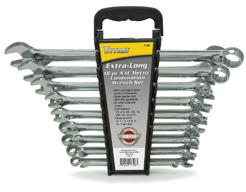 Titan Tools 17396 Extra Long Wrench Set - 18 Piece ()