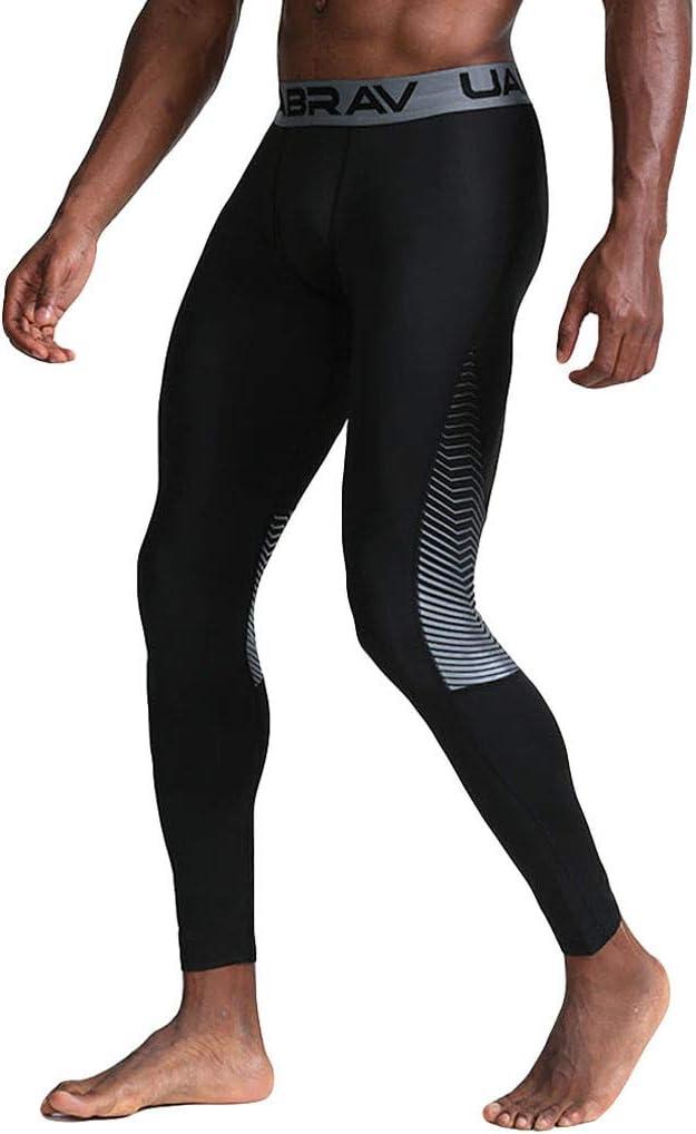 NUSGEAR Leggings Uomo Bodybuilding Leggins Ragazzo Palestra Running Jogging Uomini Pantaloni Lunghi Sportivi da Allenamento con Asciugatura Rapida e Traspirante Corsa
