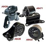 K633-04: Fits 1995-1998 Mazda Protege 1.5L/1.8L AUTO Trans Motor & Trans Mount Set 4PCS! 1995 1996 1997 1998 - A6433 A6434 A6436 A6471
