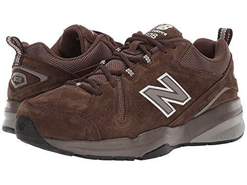 New Balance Men's 608v5 Casual Comfort Walking Shoe, Chocolate Brown/White, 11 4E US