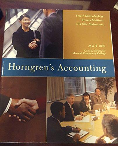 Horngren's Accounting, Elevennth Edition