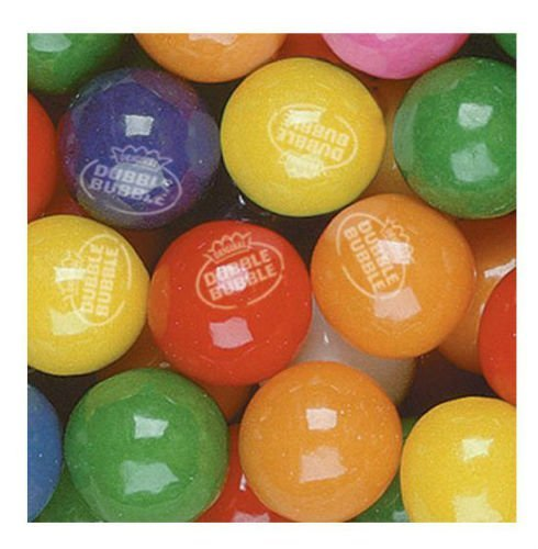 Dubble Bubble Tropical Fruit 24mm Gumballs 1 Inch, 5 Pounds Approximately 275 Gum Balls. Includes a Free Product Card