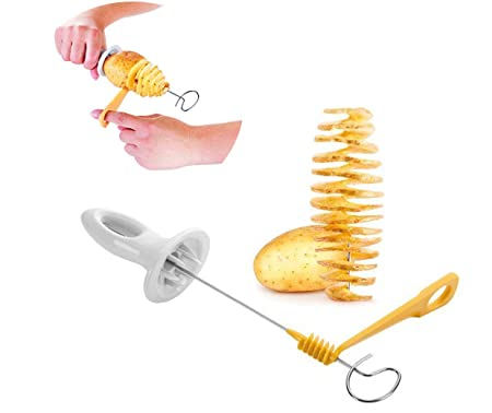 Oumosi Creative Spiral Potato Slicer Spiral Peel Slicing