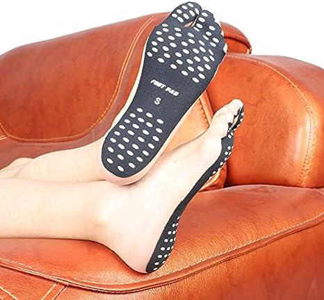 YANLE 1 Paire de Coussinets de Pieds Auto-Adh/ésifs de Haute Qualit/é Coussinets de Protection des Pieds de Plage Antid/érapants Semelles Int/érieures de Chaussures Invisibles avec Silicone Antid/érapant