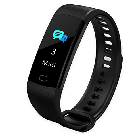 d0379cccf Fitness Tracker, Activity Tracker Heart Rate Monitor, Waterproof Bluetooth  Color Screen Smart Wristband Bracelet