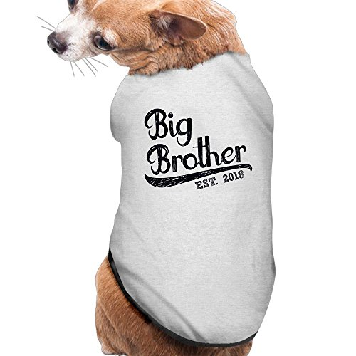Big Brother Puppy Clothes Dog Dress Plain Sleeveless Cotton Tee T Shirt L - Me Near Target Chicago