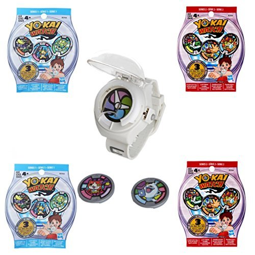 Yo-kai Watch 5 Piece Set - Watch, 2 Season 1 Blind Bags, 2 Season 2 Blind Bags Including 3 Mystery Medallions
