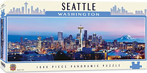 MasterPieces American Vistas Panoramic Seattle Jigsaw Puzzle, 1000-Piece