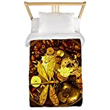 CafePress - Steampunk Dragonfly Twin Duvet - Twin Duvet Cover, Printed Comforter Cover, Unique Bedding, Microfiber