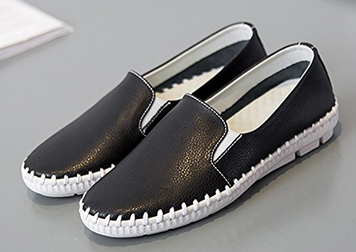 Low Black Women's Slip Aisun On Daily Top Heels Loafers Wedge ESxqCw