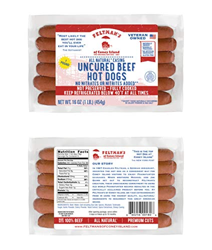 Feltman's Original Hot Dogs, 3 Pack (18 hot dogs) (Best Hot Dog Franks)