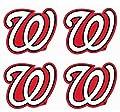 MLB Set of 4 Washington Nationals Team Logo Stickers Four Individual Official Major League Baseball Helmet Emblems DC