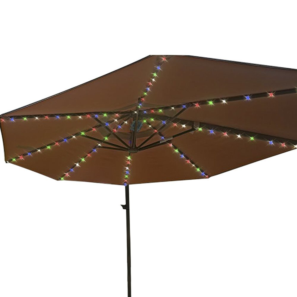 Patio Umbrella String Lights with Remote Control 104 LED Copper Wire Decoration Lights Battery Operated ip67 for Outdoor (Multi-Colored)