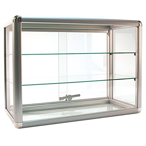 Image of KC Store Fixtures 17225 Countertop Showcase 24' x 12' x 18', Silver Finish Display Cases